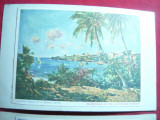Set 2 Ilustrate Crucea Rosie-Colonii Franceze- Pictura- Mombasa de pe mal si iur, Necirculata, Printata