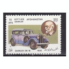 8198 - Afganistan 1984 - Automobile, neuzat, perfecta stare - Timbre straine, Nestampilat