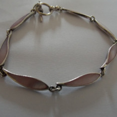 Bratara argint sidef roz - 60
