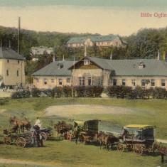 NEAMT BAILE OGLINZI TG. NEAMT CIRCULATA 1914 EDITURA ILIE ROZNER TARGU NEAMT - Carte Postala Moldova 1904-1918, Tip: Printata