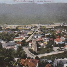 PIATRA NEAMT, VEDERE GENERALA, CIRCULATA AUG. *917 - Carte Postala Moldova 1904-1918, Tip: Printata