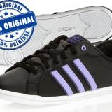 Adidasi dama Adidas Derby QT - adidasi originali - piele naturala, Culoare: Negru, Marime: 38 2/3