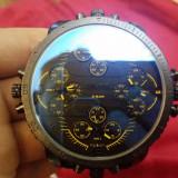 Ceas DIESEL 3 BAR - Model Cadran Foarte Mare cu 4 Ceasuri Incluse - Negru
