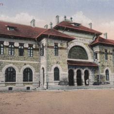 PIATRA NEAMT, GARA, CIRCULATA AUG. *918 - Carte Postala Moldova 1904-1918, Tip: Printata