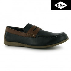 Pantofi originali Lee Cooper PU SUV Boat Shoes Mens - Mocasini barbati Lee Cooper, Marime: 41, Culoare: Din imagine