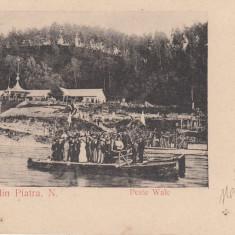 MOLDOVA PIATRA NEAMT SALUTARI DIN PIATRA NEAMT PESTE WALE CLASICA CIRCULATA - Carte Postala Moldova pana la 1904, Printata