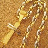 Lant  + medalion  inox placat = 70 ron