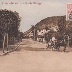 MOLDOVA PIATRA NEAMT PIATRA-NEAMTU - STRADA BISTRITEI TRASURA TCV CIRCULATA - Carte Postala Moldova 1904-1918, Tip: Printata