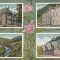 VATRA DORNEI, IACOBENI, CASTELUL REGAL, VEDERE GEN. CU BISTRITA, HOTEL COMUNAL - Carte Postala Bucovina dupa 1918, Necirculata, Printata