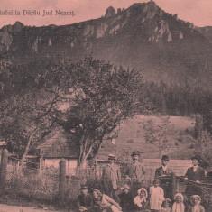 NEAMT VEDEREA CEAHLAULUI LA DARAU JUDETUL NEAMT SCRISA 1913 NECIRCULATA - Carte Postala Moldova 1904-1918, Tip: Printata, Oras: Durau