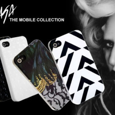 Husa iPhone 4 4S Neagra Lady Gaga - Husa Telefon Apple, Negru, Plastic, Fara snur, Carcasa