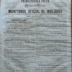 Principatele Unite , Monitorul oficial al Moldovii , Iasi , nr. 48 , 1859
