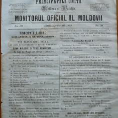 Principatele Unite , Monitorul oficial al Moldovii , Iasi , nr. 50 , 1859