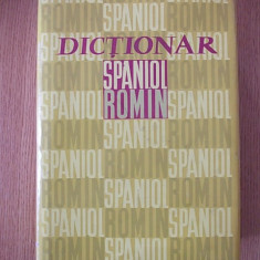 DICTIONAR SPANIOL ROMAN- N. FILIPOVICI- cartonata, supracoperta-contine 1012 p