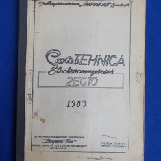 CARTEA TEHNICA * ELECTROCOMPRESOR  2EC10  - BUCURESTI - 1983