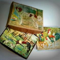 Joc cu cuburi mari C. P. L. Brasov - 1969 - complet - Joc colectie
