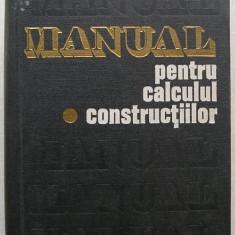 Manual pentru Calculul Constructiilor (vol. 1) - colectiv