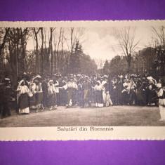 Familia Regala - Port Popular - Hora - Carte Postala Muntenia 1904-1918, Circulata, Fotografie