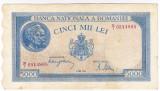 1)Bancnota 5000 lei 2 mai 1944 VF/XF portret Traian+Decebal