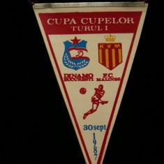 MCFA - FANION - DINAMO - DINAMO BUC - FC MALINES - CUPA CUPELOR - 20 SEPT 1987