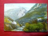 Ilustrata inedita Baile Herculane -Valea Cernei 1923 Ed.V.Krizsany, Necirculata, Printata