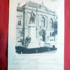 Ilustrata clasica Soborul Kozsuth-Miskolcz circulat 1899 Ungaria, Circulata, Printata