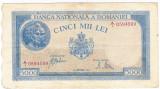 1)Bancnota 5000 lei 28 septembrie 1943 VF+ portret Traian+Decebal