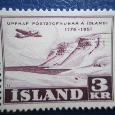 TIMBRE ISLANDA NESTAMPILAT