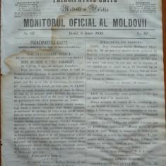 Principatele Unite , Monitorul oficial al Moldovii , Iasi , nr. 67 , 1859