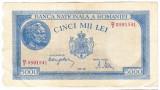 2)Bancnota 5000 lei 2 mai 1944 VF+, portret Traian+Decebal