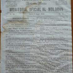 Principatele Unite , Monitorul oficial al Moldovii , Iasi , nr. 66 , 1859