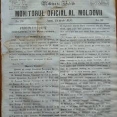 Principatele Unite , Monitorul oficial al Moldovii , Iasi , nr. 70 , 1859