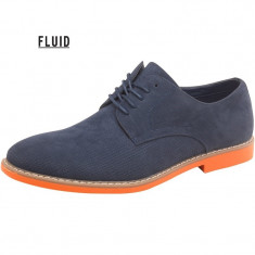 Pantofi originali Fluid Mens Navy - Pantofi barbat, Marime: 40, 41, 42, 43, Culoare: Albastru