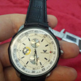 Ceas EMPORIO ARMANI - Barbatesc, Modelul 2, Cadran Alb, Quartz - Ceas barbatesc Armani, Casual, Inox, Piele, Analog