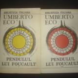UMBERTO ECO - PENDULUL LUI FOUCAULT 2 volume