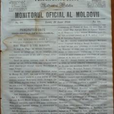 Principatele Unite , Monitorul oficial al Moldovii , Iasi , nr. 68 , 1859