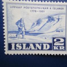 TIMBRE ISLANDA NESTAMPILATE