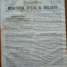 Principatele Unite , Monitorul oficial al Moldovii , Iasi , nr. 71 , 1859