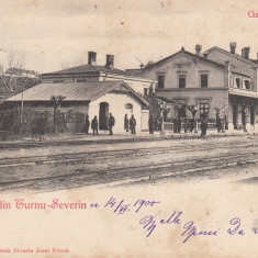 SALUTARI DIN TURNU SEVERIN, GARA, CLASICA, CIRCULATA 1900 - Carte Postala Oltenia pana la 1904, Printata, Drobeta-Turnu Severin