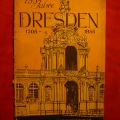 Harta Dresda Germania - la 750 Ani de la infiintare, cu text reclama