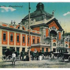 2674 - Bucovina CERNAUTI, Railway Station - old postcard - unused - 1916 - Carte Postala Bucovina 1904-1918, Necirculata, Printata