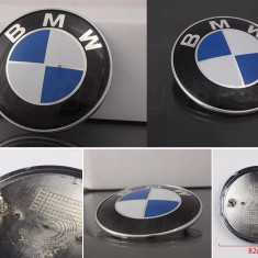 Set 2 embleme auto fata spate pentru BMW 82 si 74 mm E46 E39 E38 E90 E60 Z