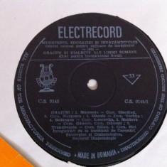 Graiuri si dialecte ale limbii romane disc vinyl lp cs 145 pentru invatamant - Muzica soundtrack electrecord, VINIL