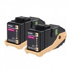 Epson Pachet 2 tonere laser Epson C13S050607 magenta, 2x7500 pag - Riboane imprimanta