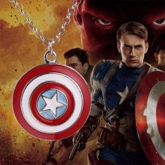 Pandantiv / Colier / Lantisor - Captain America Scutul  - Marvel Avenger