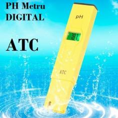 Tester PH metru digital cu ATC !!! + Praf de calibrare + CUTIE - NOU ! !