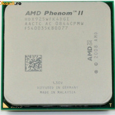 Procesor Quad Core Am3 AMD Phenom II X4 925 2.8Ghz 6MB L3 95W Tray HDX925WFK4DGI - Procesor PC AMD, Numar nuclee: 4, 2.5-3.0 GHz