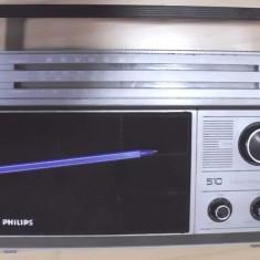 Radio vechi de colectie functional philips 4 lungimi de unde FM etc - Aparat radio