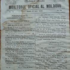 Principatele Unite , Monitorul oficial al Moldovii , Iasi , nr. 74 , 1859
