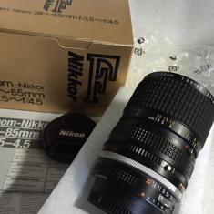 Vand obiectiv NIKON 28-85mm AI S nou nefolosit - Obiectiv DSLR Nikon, Altul, Manual focus, Nikon FX/DX